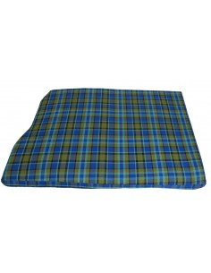Westfalia Blue Plaid Engine Foam Cover Full Width with Spare Wheel 1974-1979