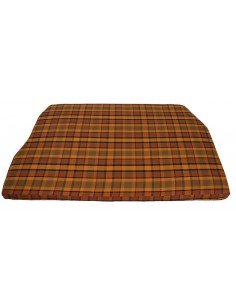 Westfalia Orange Plaid Engine Foam Cover Full Width 1974-1979
