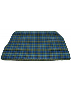 Westfalia Blue Plaid Engine Foam Cover Full Width 1974-1979