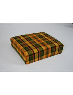 Yellow stool cover for Westfalia late bay buddy seat