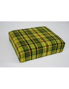 Green plaid stool cover for Westfalia late bay buddy seat